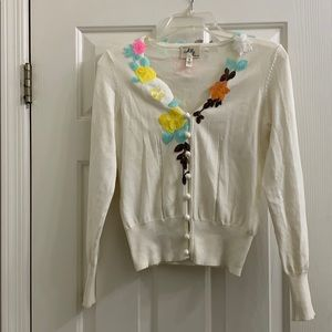Milly floral sequined cardigan size small